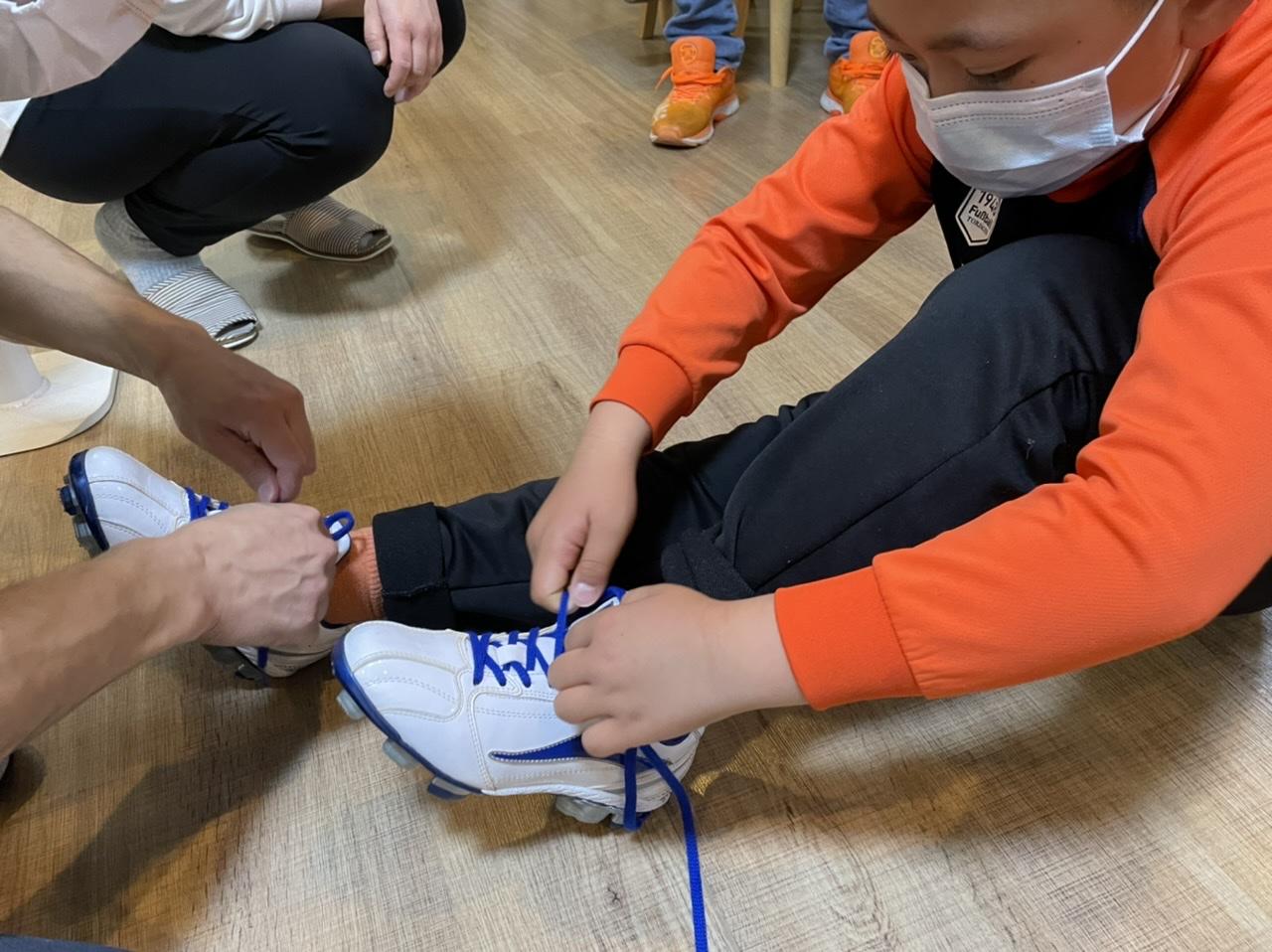 野球少年の靴フィッティング⚾️
